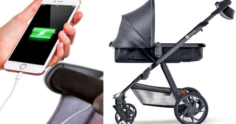 4Moms Moxie stroller keeps your smartphone charged