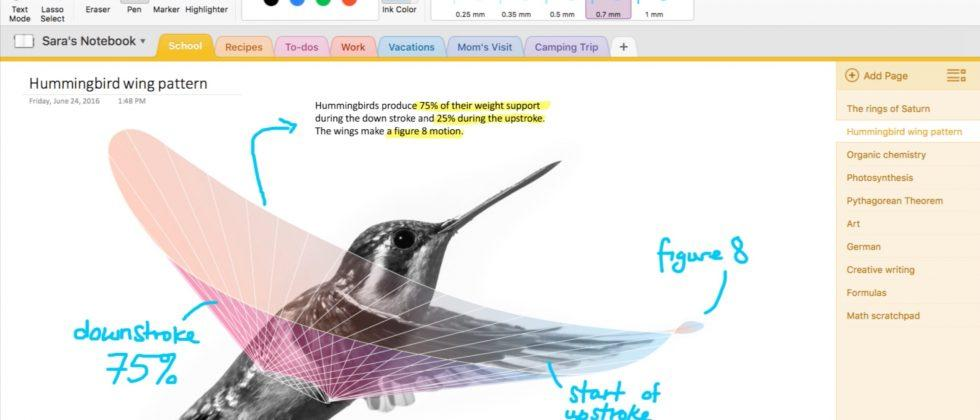 New OneNote Mac ink support sees Microsoft crank Evernote pressure