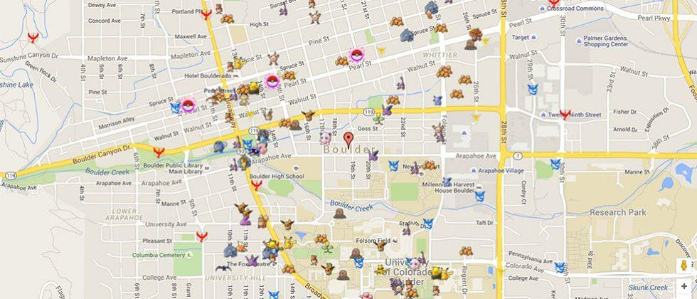 Pokemon GO map visualization shows all the Pokemon in your area