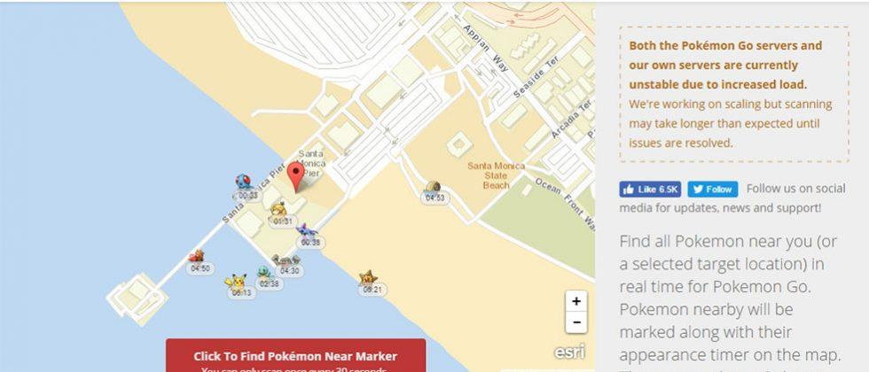 Pokevision makes Pokemon Go hunting a snap