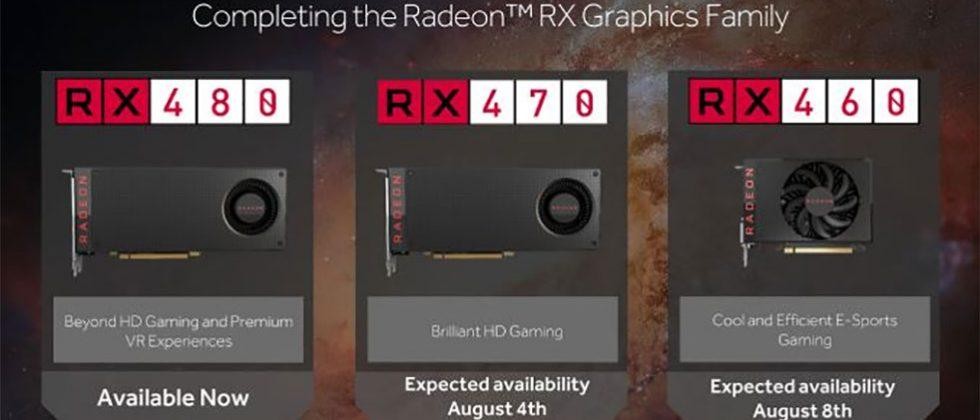 AMD Radeon RX 470 and RX 460 specs and shipping unveiled