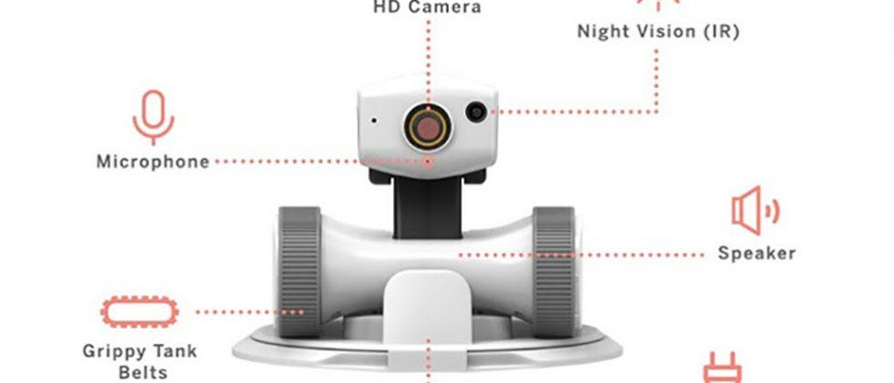Riley roving camera is a home sentry robot
