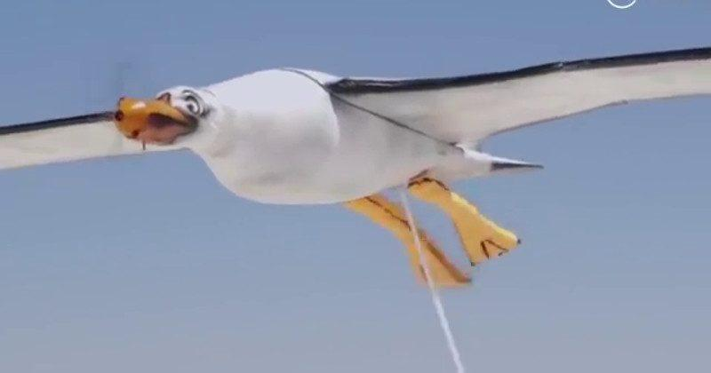 Nivea seagull drone poops sunscreen on kids at the beach