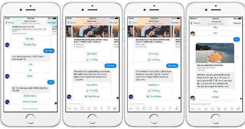 Yahoo's Facebook Messenger chatbots talk money, weather, monkeys