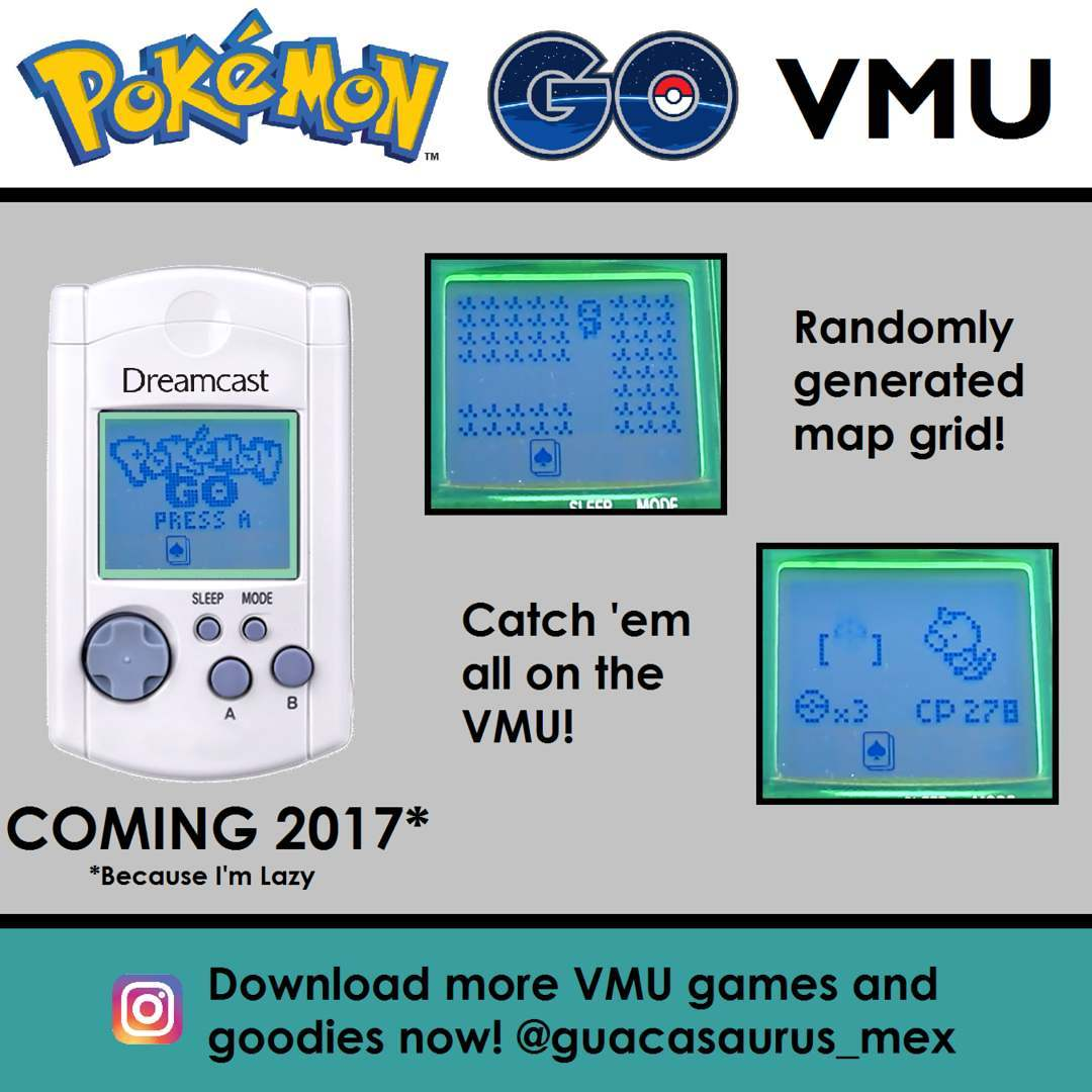 Modder brings Pokemon Go to the Dreamcast VMU