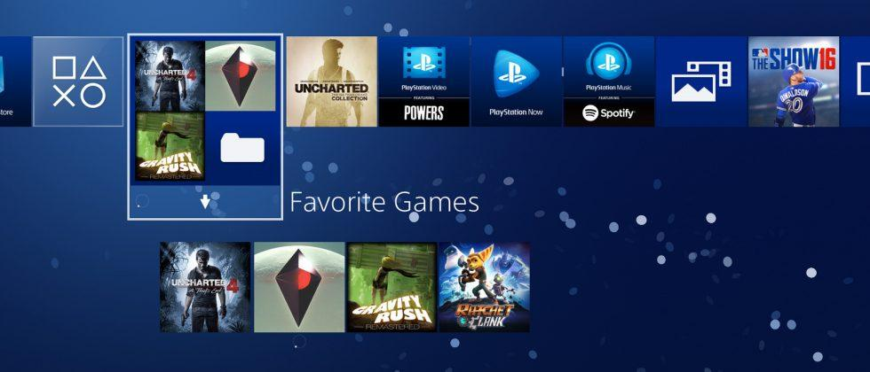 PlayStation 4 update 4.0 will bring long-awaited folders, UI refresh