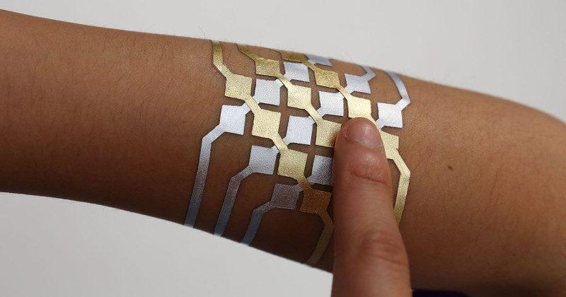 DuoSkin uses temporary gold leaf tattoos to control devices