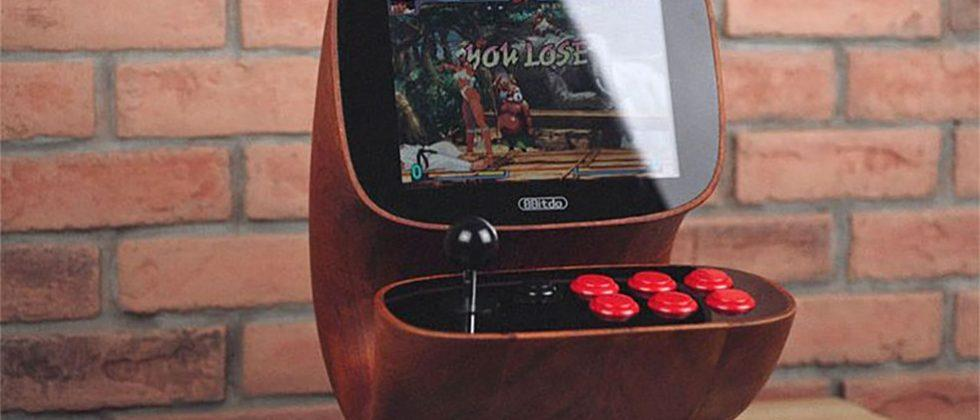 Curvy, retro arcade gaming cabinet is all '70s class