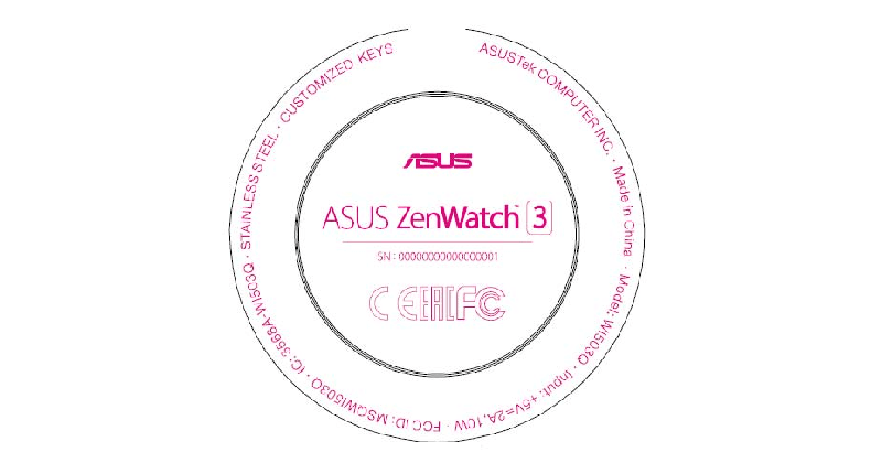ASUS ZenWatch 3 to be round based on FCC filing