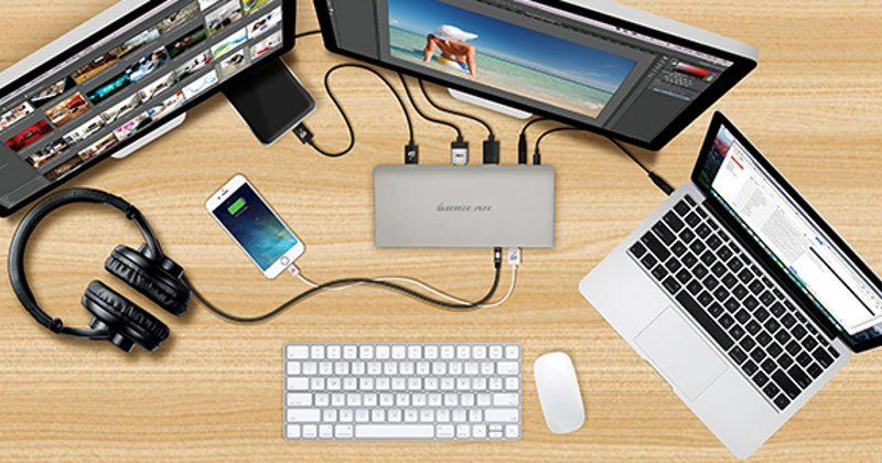 IOGEAR USB-C Docking Station trades one USB-C port for ten