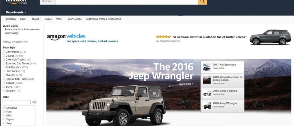 Amazon Vehicles is a new destination for car shoppers