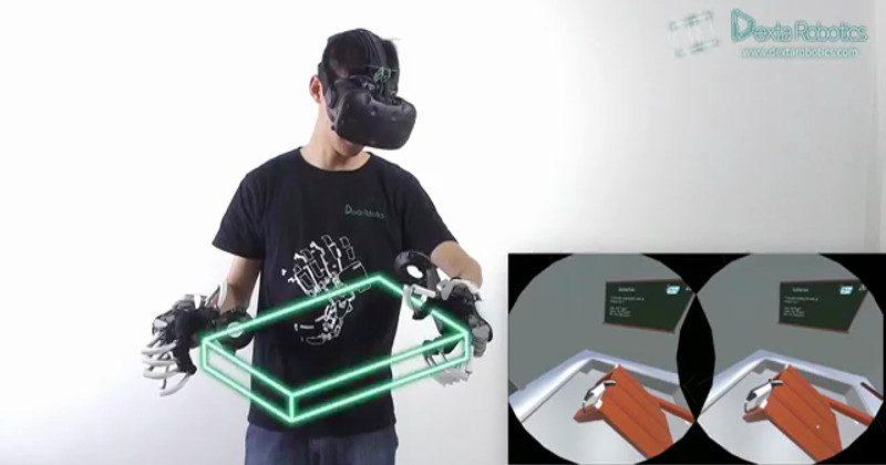 Dexmo exoskeleton VR gloves inches to a final product