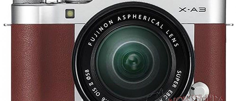 Fujifilm X-A3 images leak showing a slick retro design