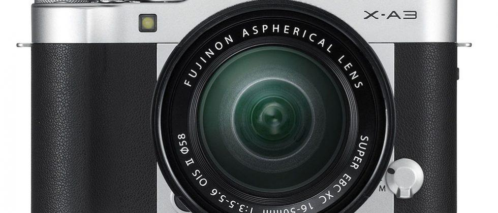 Fujifilm X-A3 is a mirrorless camera for selfies