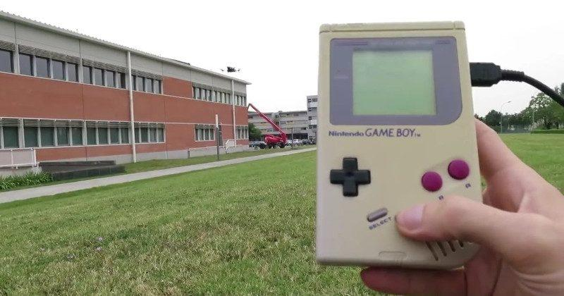 Game Boy Classic turned into a drone controller