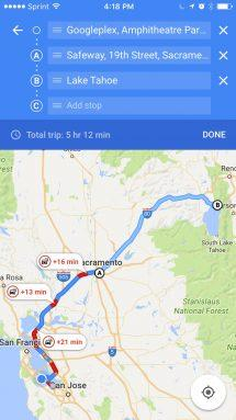 Google Maps for iOS gets multi-stop road trip capability