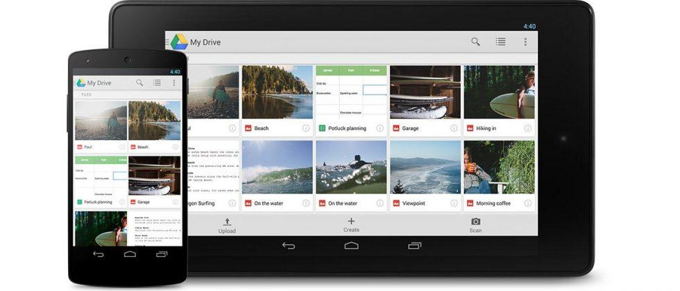 Google Drive adds support for file homescreen shortcuts