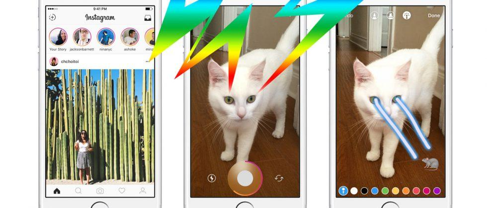Instagram Stories basically copies Snapchat Stories