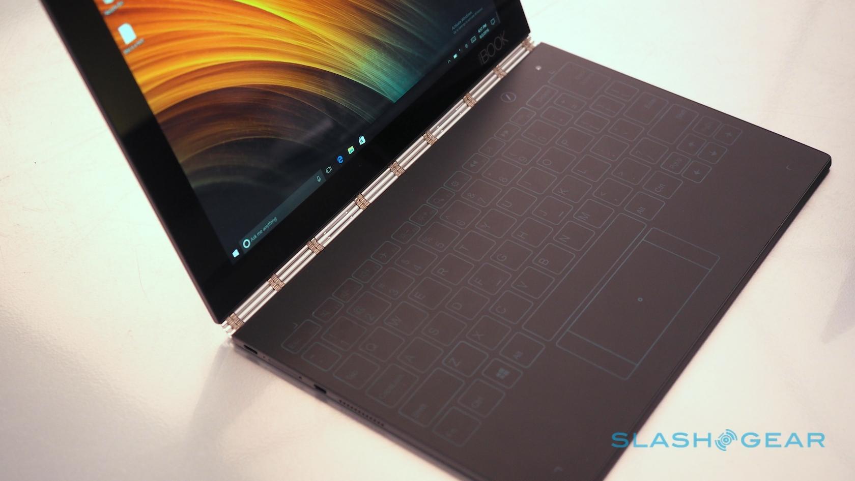 Lenovo Yoga Book Hands On 2 In 1 Ultraportable Blends Wacom And Tron Slashgear