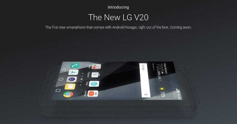 LG V20 will really have Nougat first, high end features teased