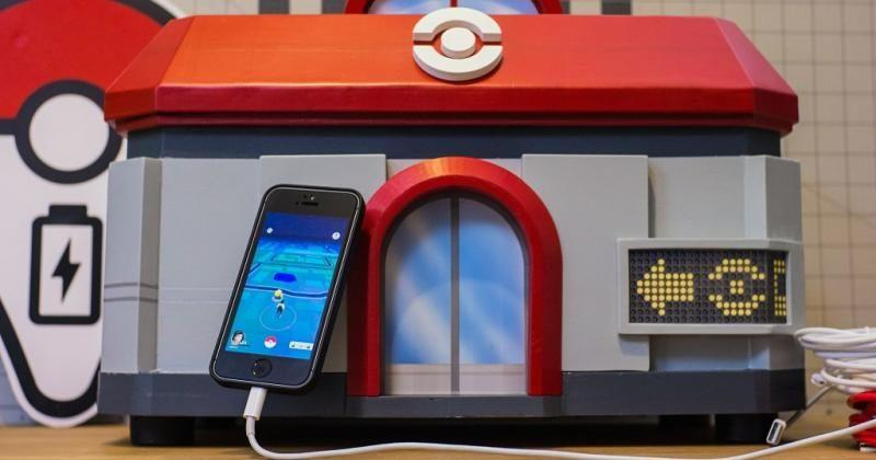 Pokemon Center charging station is a haven for Pokemon GO players