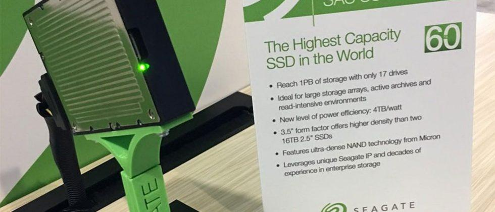 Seagate 60TB SAS SSD packs lots of fast storage in a 3.5-inch form