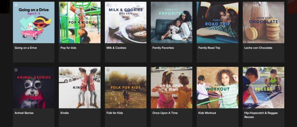 Spotify 'Kids' section brings music, fairy tales, lullabies, and more