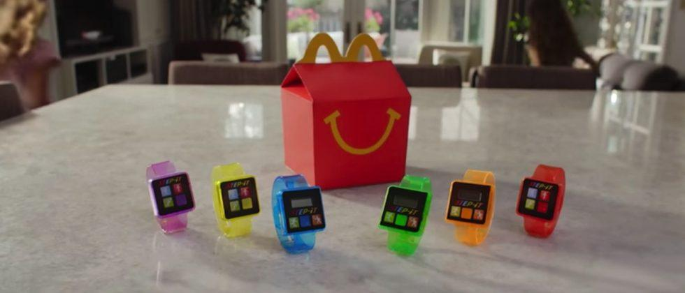 McDonald's puts activity tracker toy wearables in Happy Meals