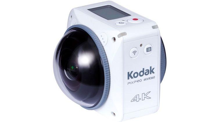 Kodak Pixpro 4KVR360 VR camera records 360-degree action in 4K