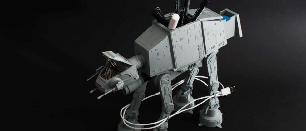 Mini AT-AT Walker stores your pens, cables, and office supplies