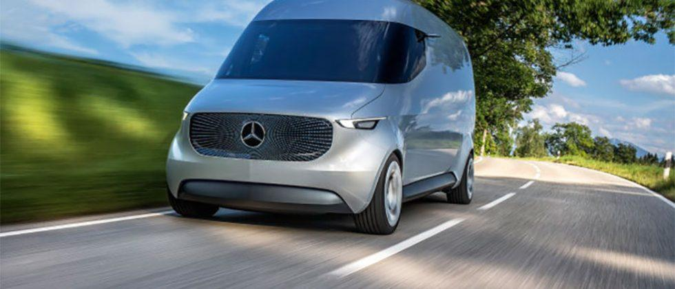 Mercedes-Benz Vans Vision Van is all electric and carries drones