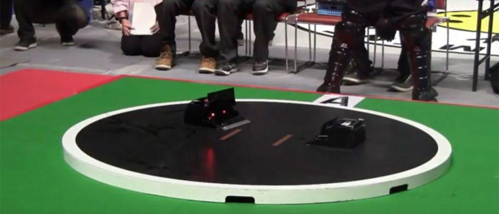 Japanese robotic sumo wrestling is completely autonomous