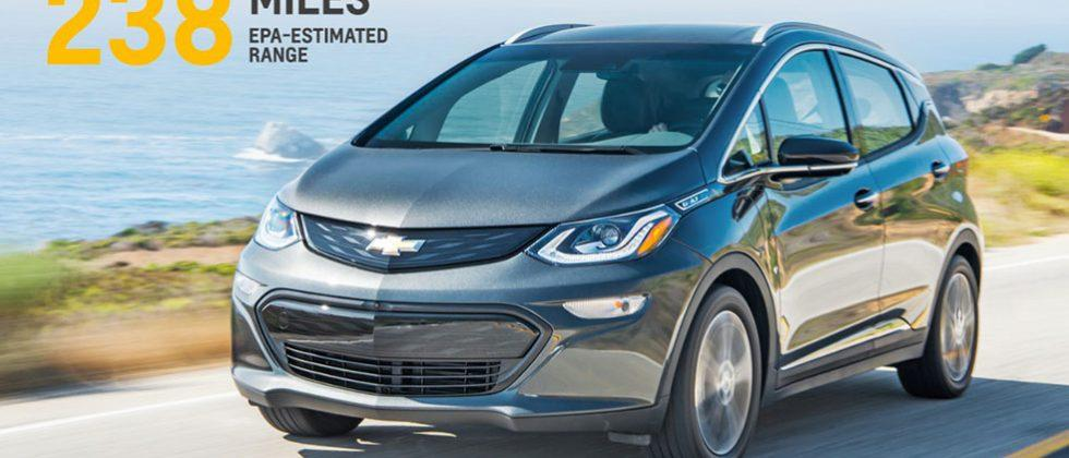 2017 Chevy Bolt EV gets EPA-estimated 238 miles per charge