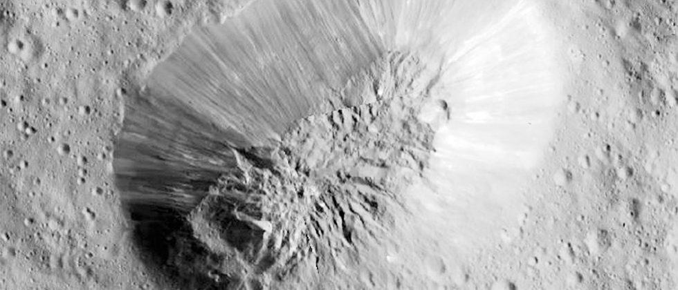 Ceres has a massive ice volcano that is half the height of Mount Everest