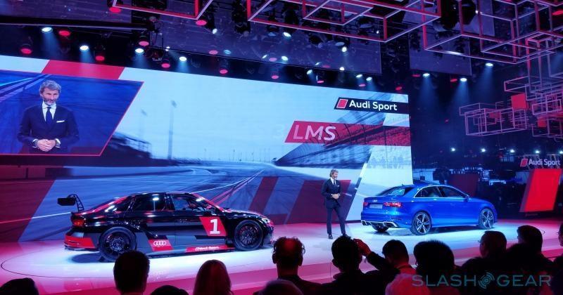 Audi RS 3 Sedan, customer race car break cover in Paris