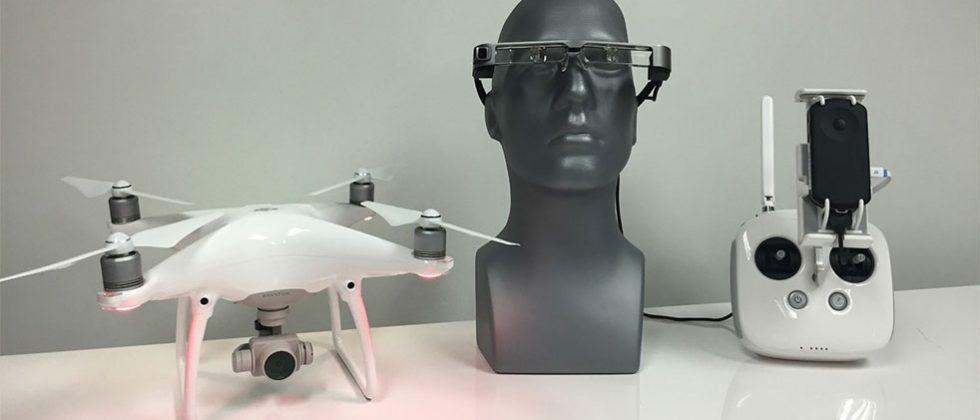 Epson Moverio BT-300 AR glasses make piloting a DJI drone an augmented reality experience
