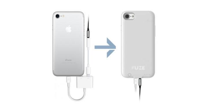 Fuze battery case for iPhone 7 includes a headphone jack