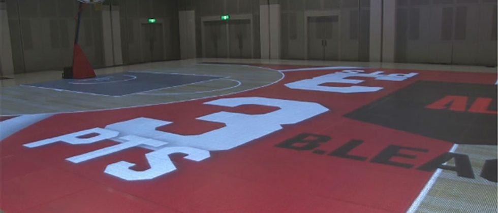 Japanese LED basketball court steals the show at B league season opener