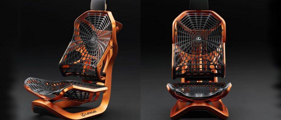 Lexus Kinetic Seat Concept includes synthetic spider silk