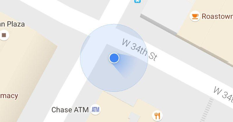 Google Maps dot now uses a beam to show your direction