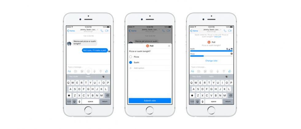Facebook Messenger now lets you poll your friends