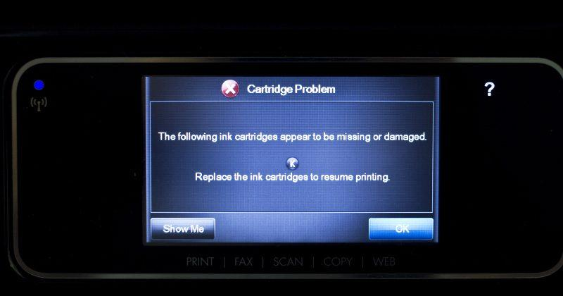HP printer firmware snuck in failure date for 3rd-party cartridges