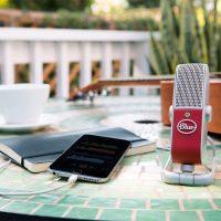 Blue Raspberry USB mic works for PC, Mac, iPhone, and iPad