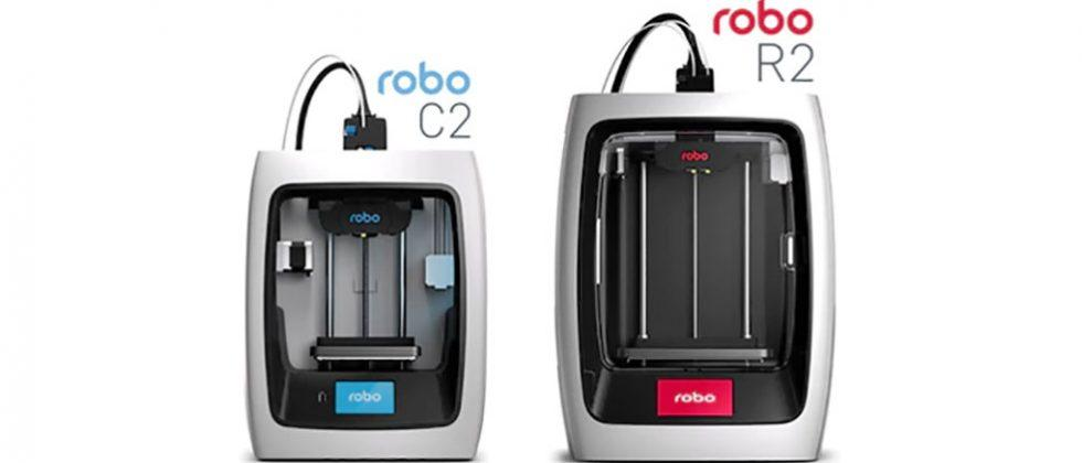 Robo C2 and R2 smart 3D printer are controlled via Robo app