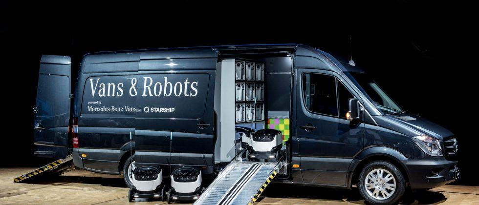 Starship Technologies and Mercedes team for Robovan robotic delivery van