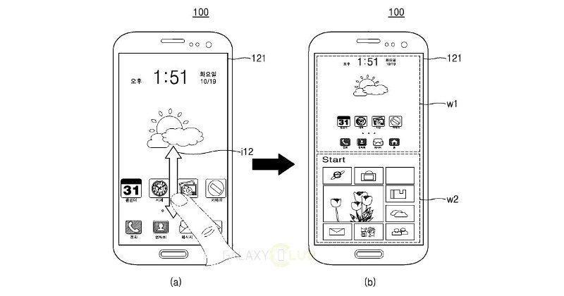 Samsung patents split window dual Android, Windows OS
