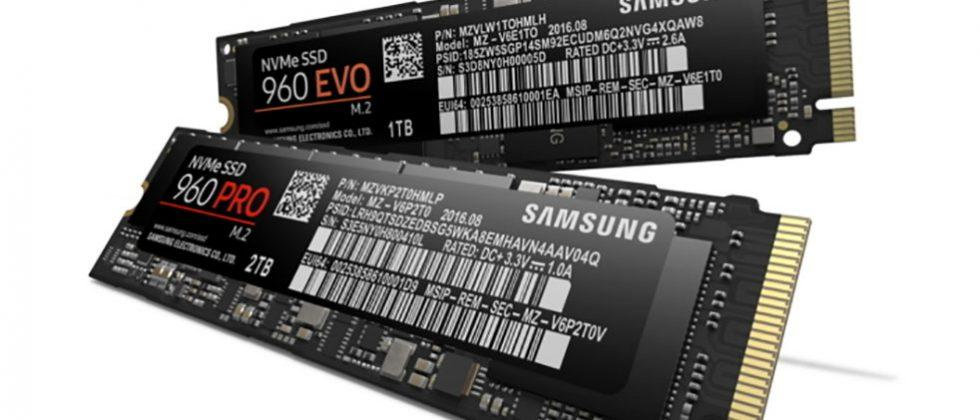Samsung 960 Pro and EVO SSDs deliver up to 3500MB/s writes