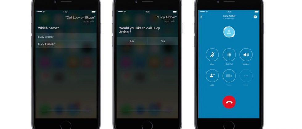 Skype for iOS updated with Siri support