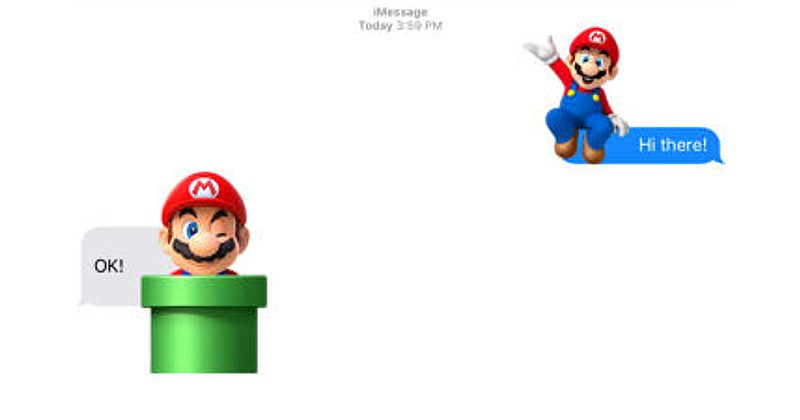 iMessage App Store is up, Mario, Disney stickers lead the pack