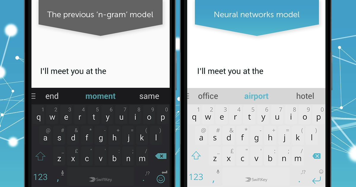 SwiftKey update introduces neural network for improved typing prediction and autocorrect
